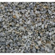 Мраморная крошка бело-голубая фр. 5-20 мм